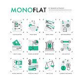 Finance Banking Monoflat Icons