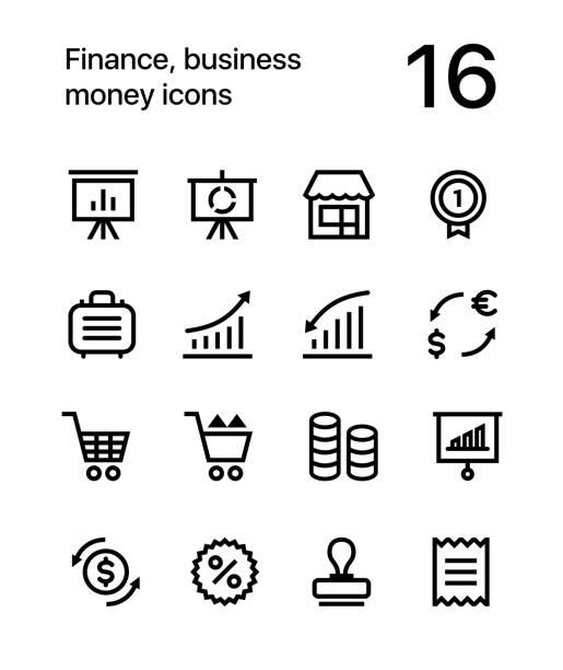 金融、ビジネス、web としてのお金アイコン パック 4 - 金融と経済点のイラスト素材/クリップアート素材/マンガ素材/アイコン素材