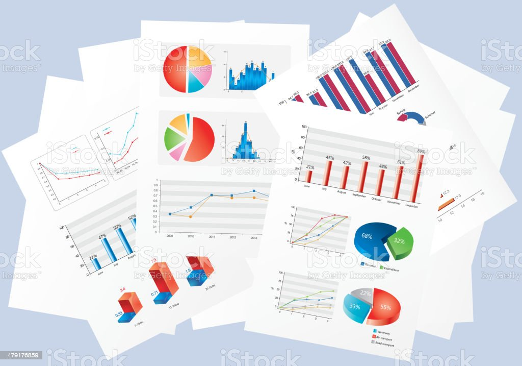 Finance chart vector art illustration