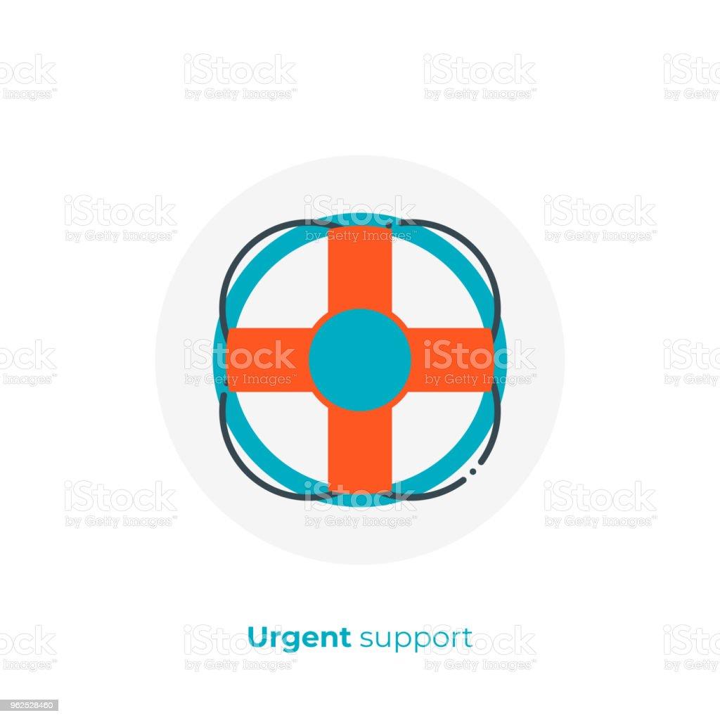 Finance consultation flat art icon, verified business help vector...