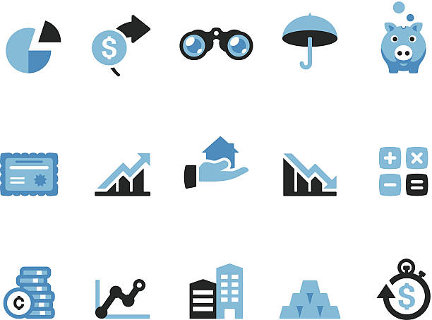 Finance / Coolico icons Coolico collection - Retail and Shopping icons. budget symbols stock illustrations