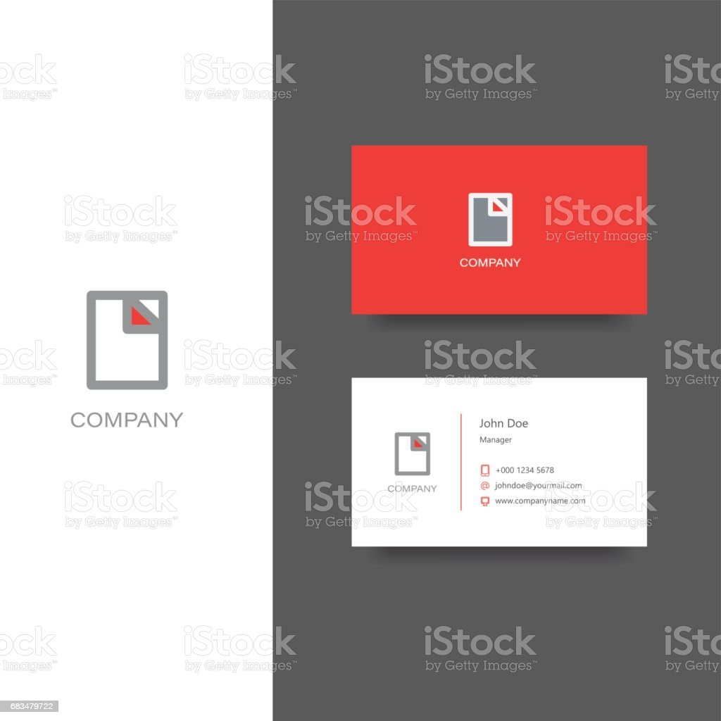 Finance Documents Company Emblem And Business Card Template stock ...