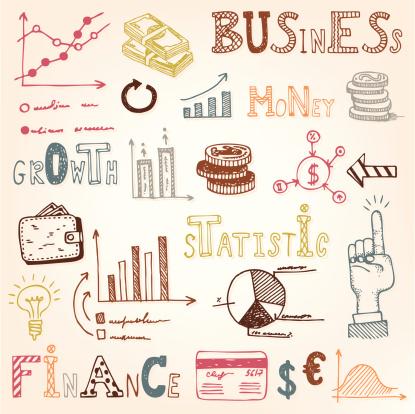 Finance Doodle Set Stock Illustration - Download Image Now
