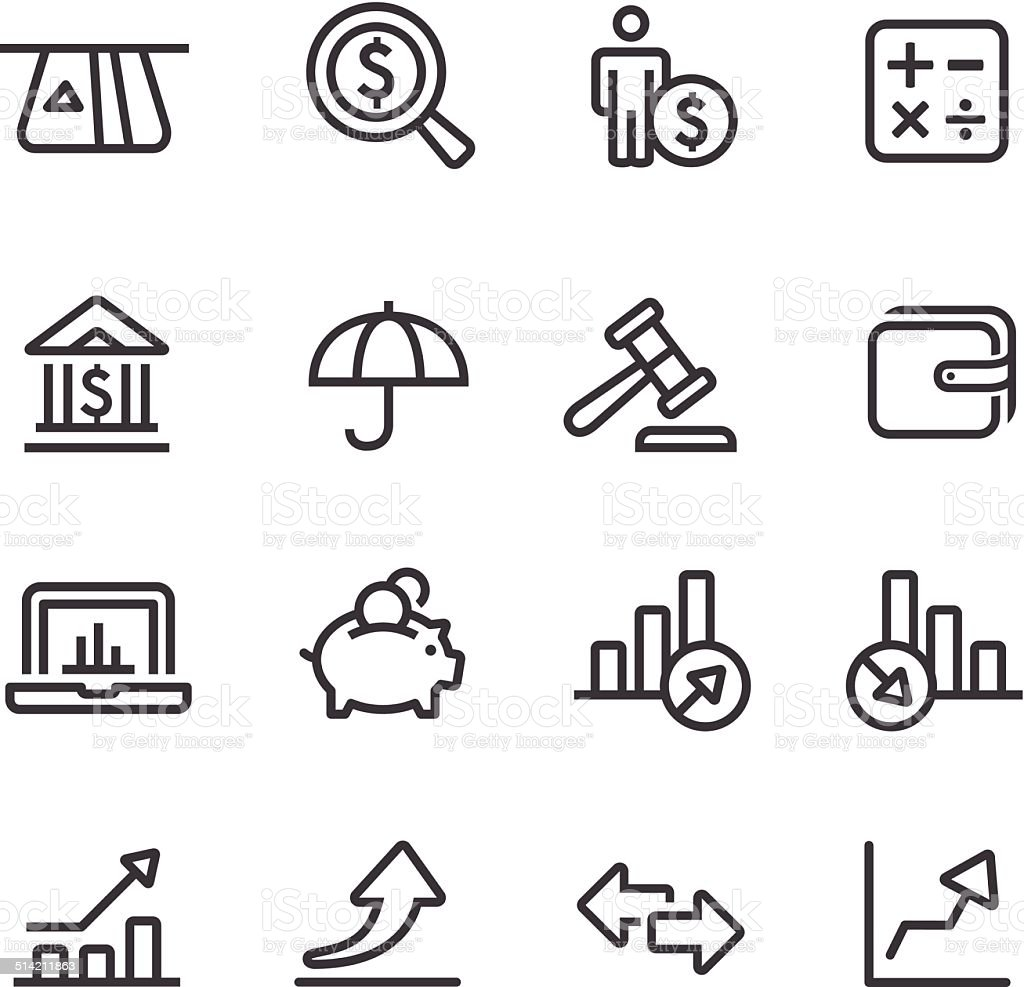 Finance Icon - Line Series vector art illustration