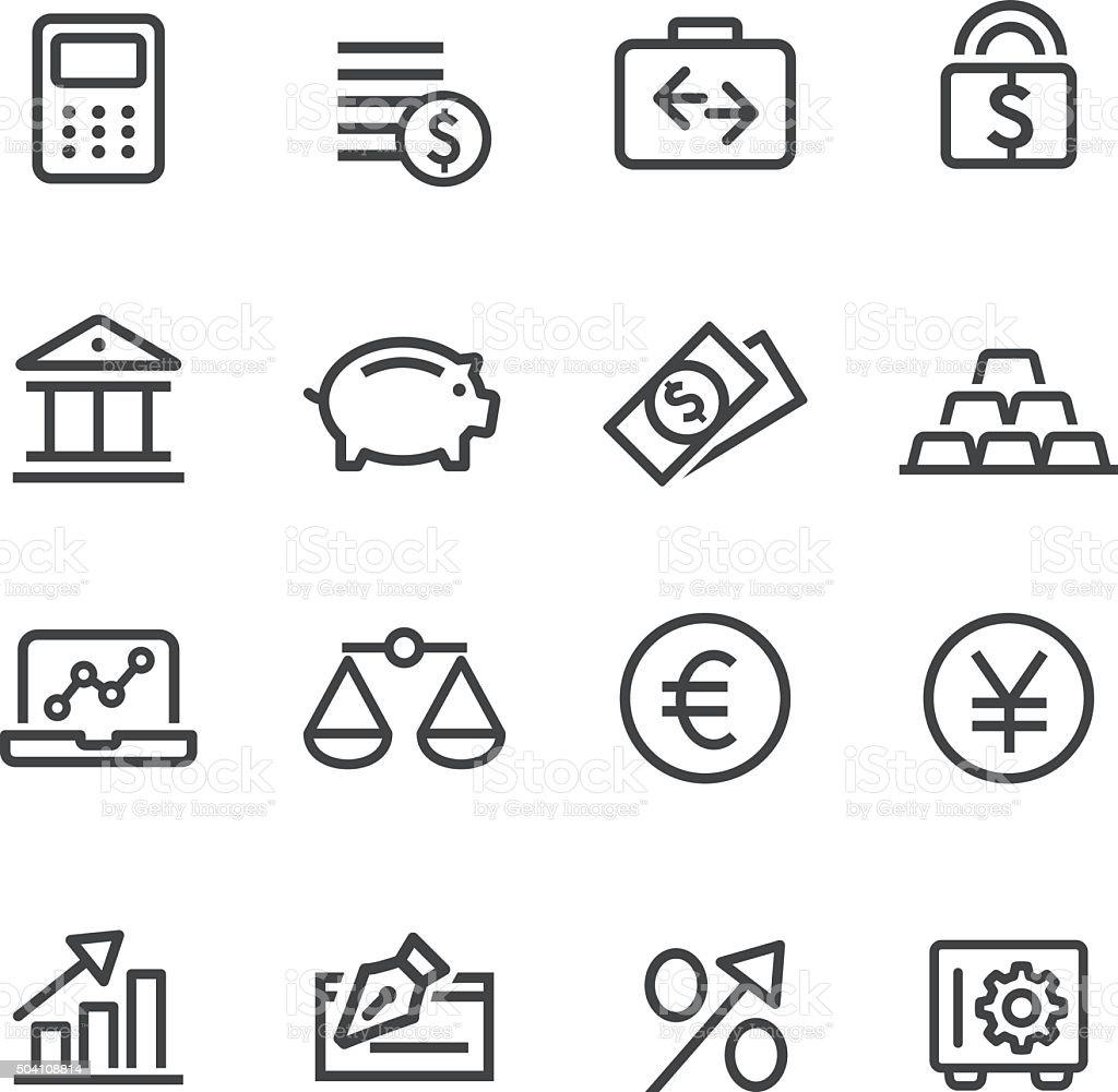 Finance Icon Set - Line Series vector art illustration