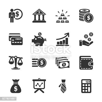 finance icon set, vector eps10..