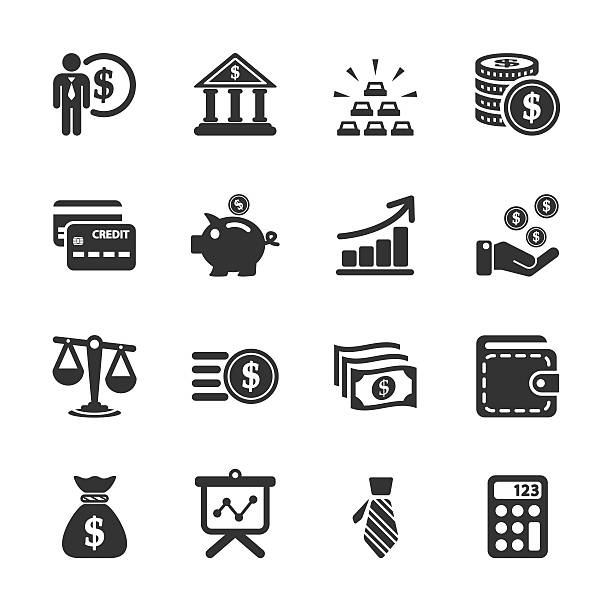 finance icon set, vector eps10 finance icon set, vector eps10.. commercial event stock illustrations