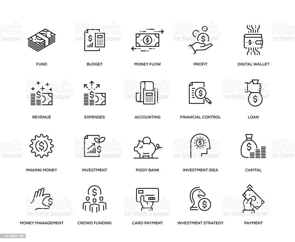 Financiën Icon Set - Royalty-free Aandeel vectorkunst