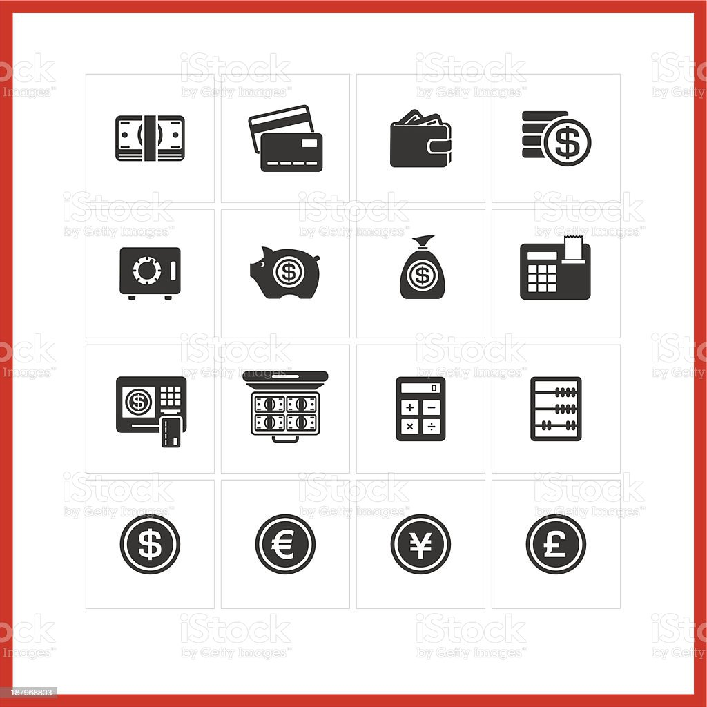 Finance icon set. royalty-free stock vector art