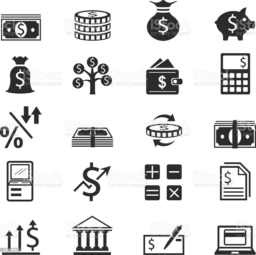Finance Icon Set: Finance Icon Set Stock Vector Art & More Images Of 2015