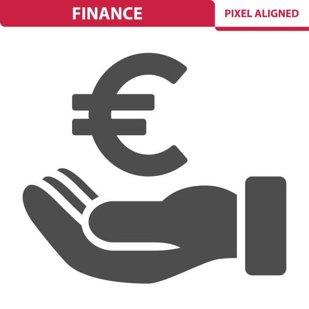 Finance Icon Professional, pixel perfect icon, EPS 10 format. european union currency stock illustrations
