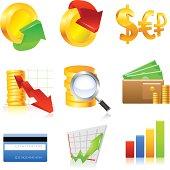 Finance icone set.