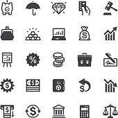 Finance icons - Black series