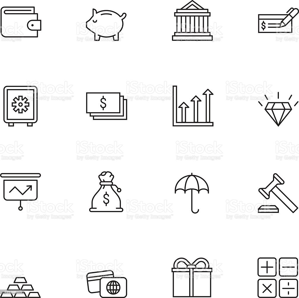 Finance icons | set 2 - Light vector art illustration