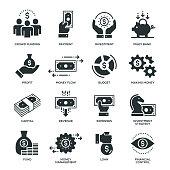 Finance Icons - 16 Monochrome Icons