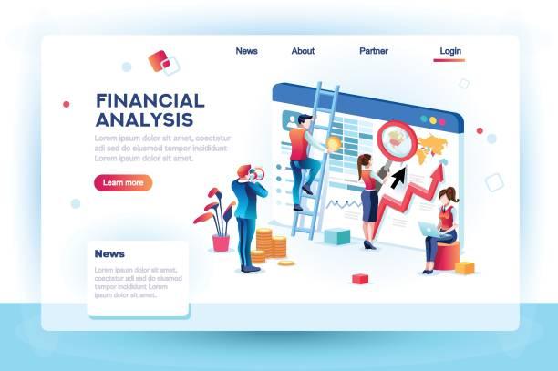 金融インフォ グラフィック解析の概念 - 金融と経済点のイラスト素材/クリップアート素材/マンガ素材/アイコン素材