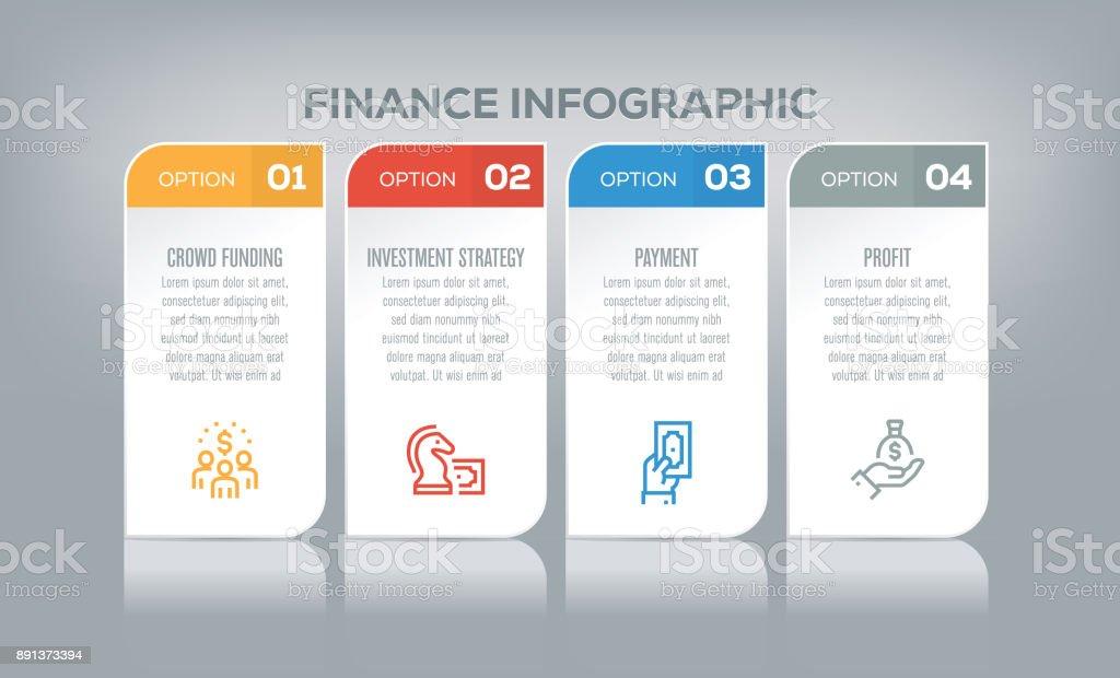 Finance Infographic vector art illustration