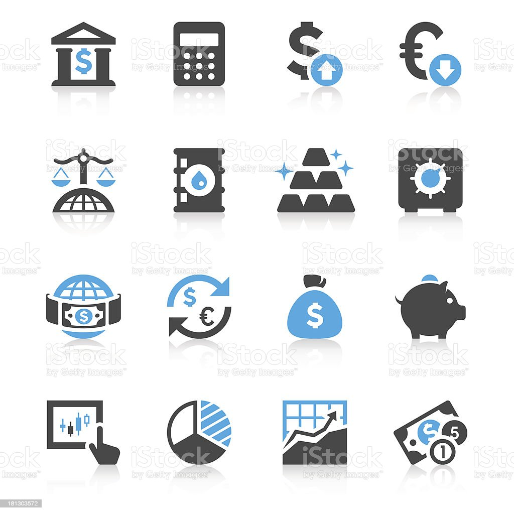 Finance & Investment Icon Set   Concise Series vector art illustration