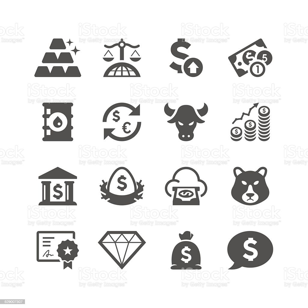 Finance & Investment Icon Set   Unique Series vector art illustration