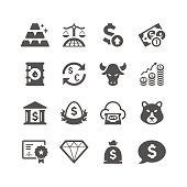 Finance & Investment Icon Set   Unique Series