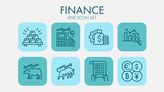 Finance Line Icon Set
