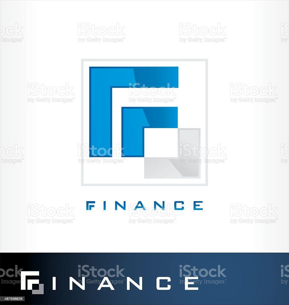 Finance logo symbol vector art illustration