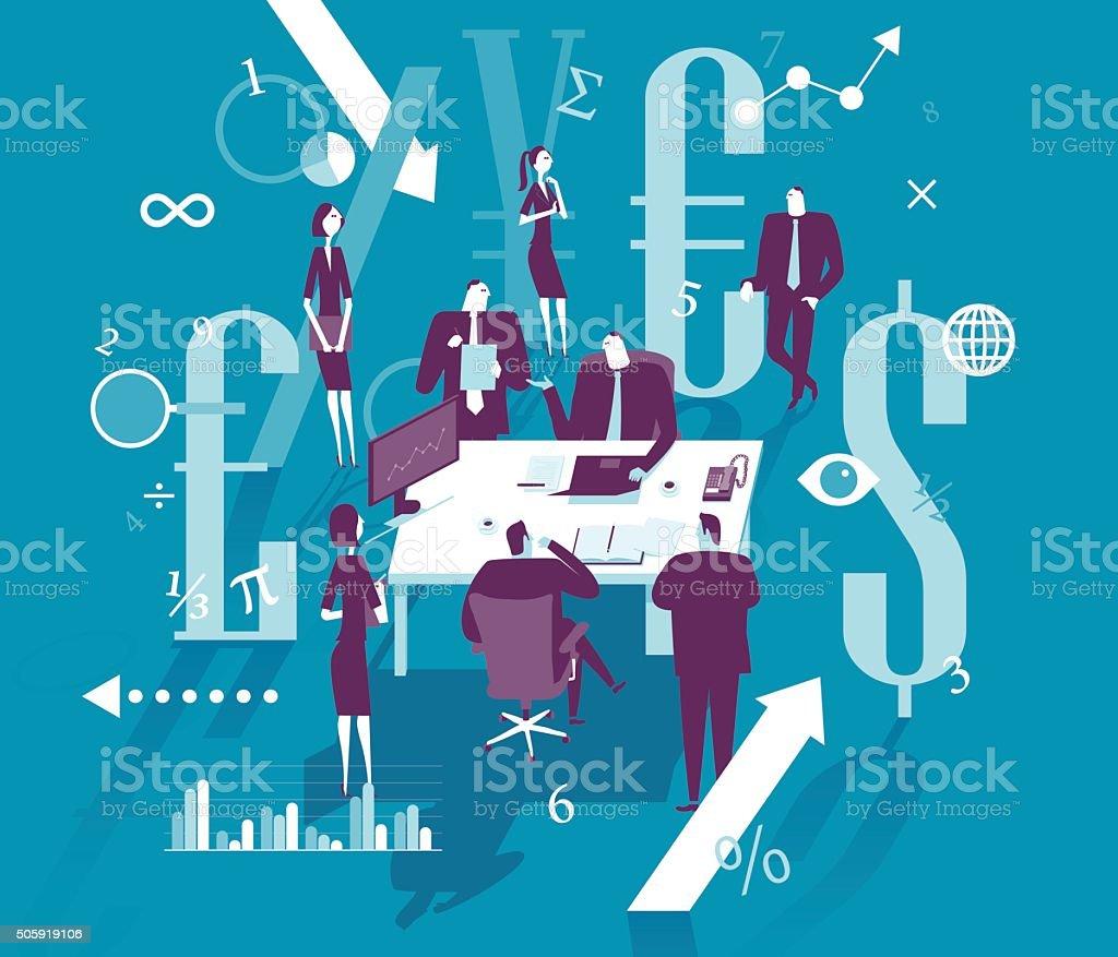 Gestão de Finanças - ilustração de arte em vetor
