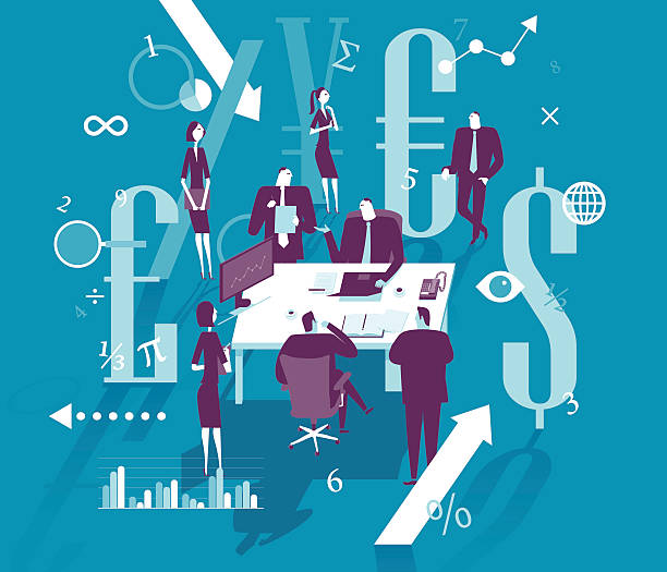 La gestion financière - Illustration vectorielle