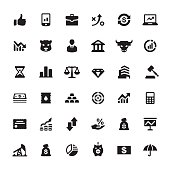 Finance market vector symbols and icons