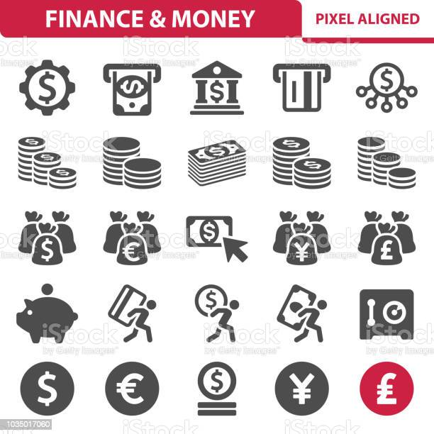 Finance Money Icons Stock Illustration - Download Image Now
