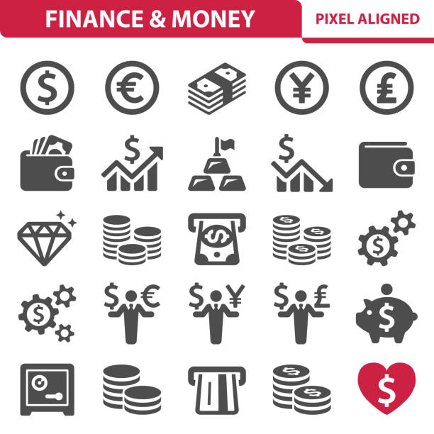 finance & geld symbole - euros cash stock-grafiken, -clipart, -cartoons und -symbole