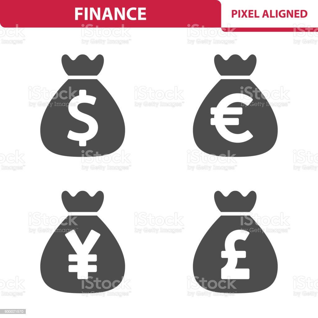 Finance & Money Icons vector art illustration