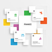 istock Finance Related Process Infographic Template. Process Timeline Chart. Workflow Layout with Linear Icons 1253665429