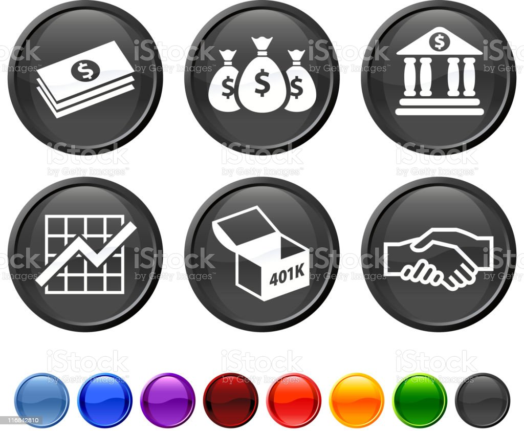 finance royalty free vector icon set vector art illustration