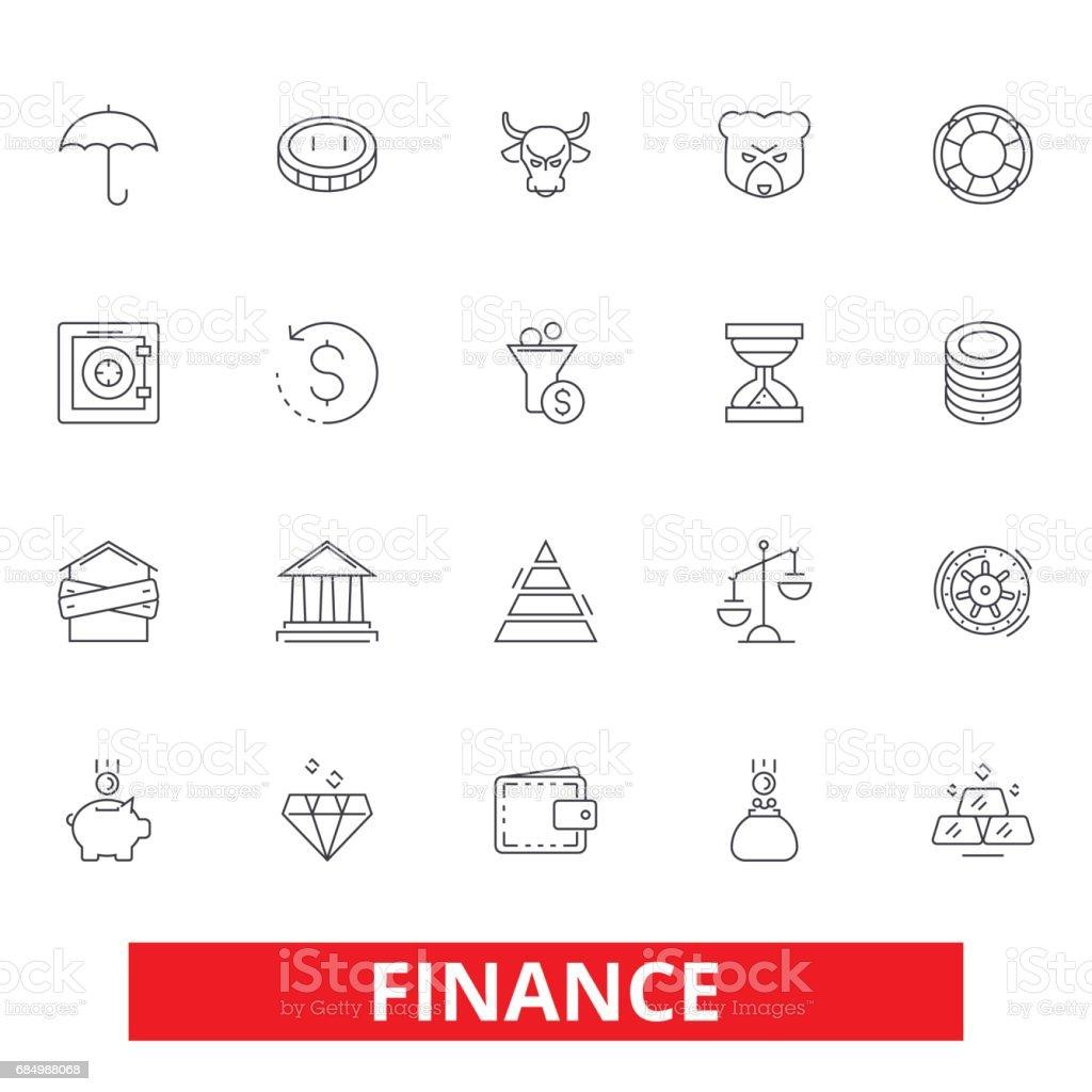 Finanzen Sparen Geld Investor Bargeld Bank Investition