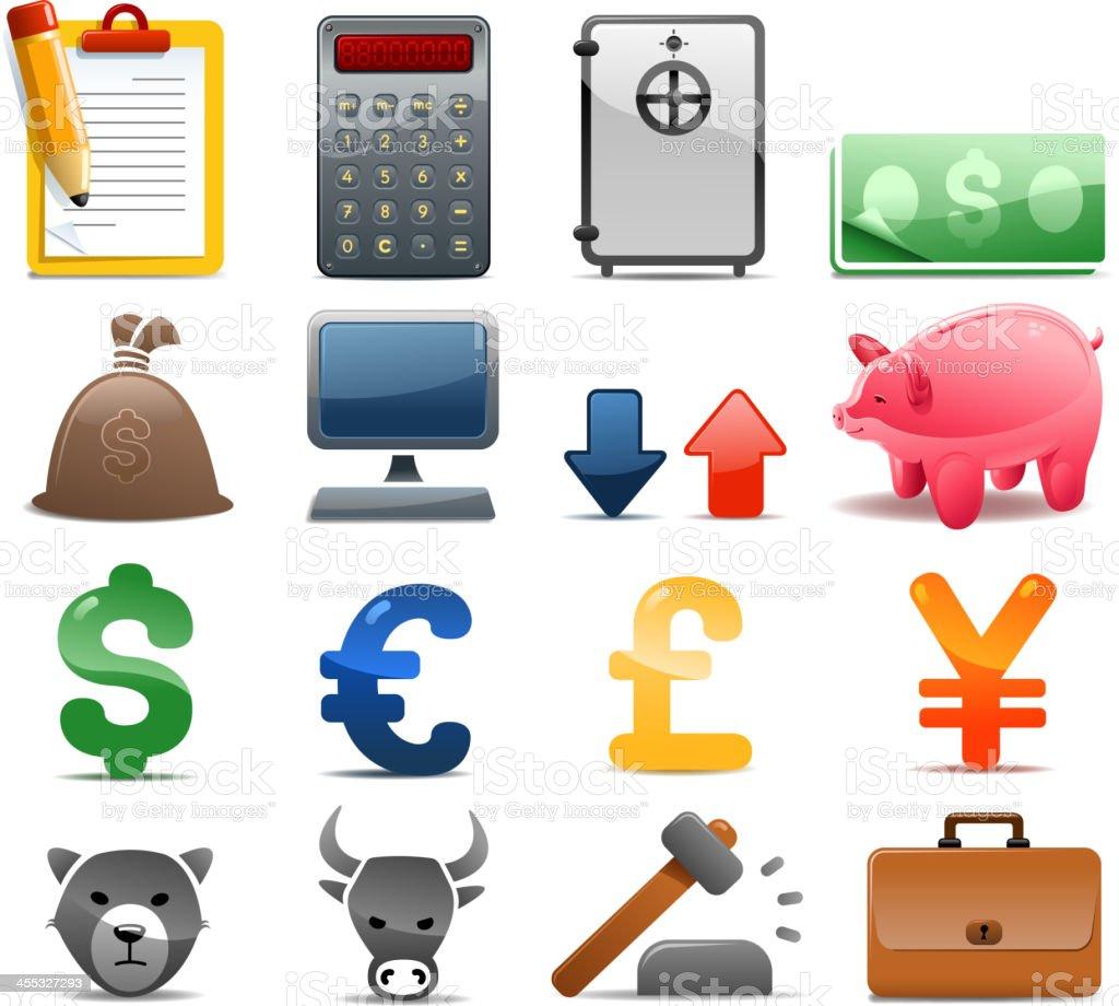finance set royalty-free finance set stock vector art & more images of arrow symbol
