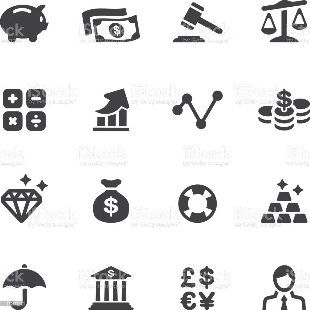 Finance Silhouette Icons vector art illustration