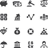 Finance Silhouette Icons