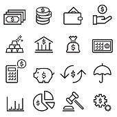 Finance Thin Line Icons