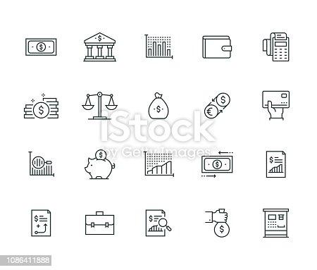 Finance Thin Line Series