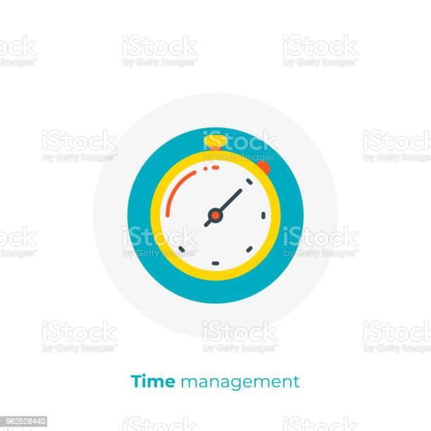 Vetores de Financiamento Timemanagement Plana Ícone De Arte Negócios Relógios Vector Art Ilustração De Tempo Digital Reviravolta Dos Desenhos Animados e mais imagens de Começo