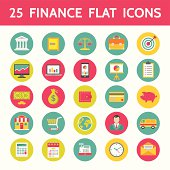 Finance Vector Icons in Flat Design Style