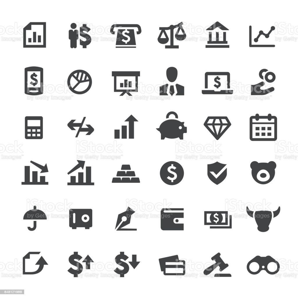 Finance Vector Icons vector art illustration