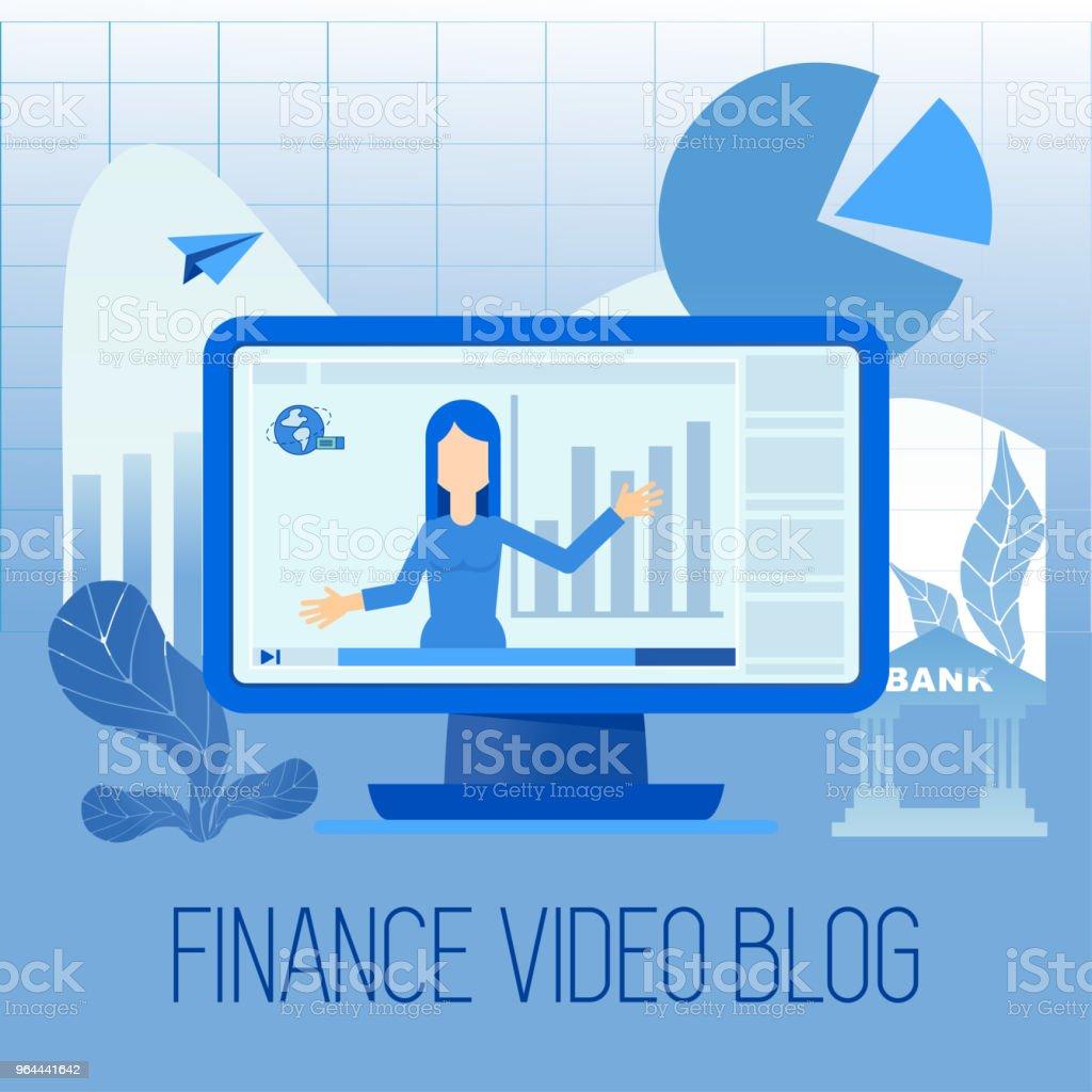 Financiën video blog - Royalty-free Accountancy vectorkunst