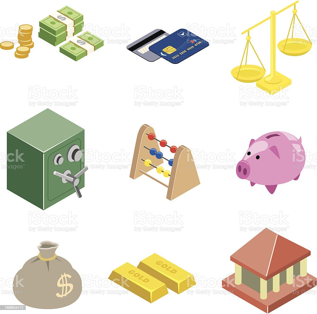 Finance web icons | ISO collection vector art illustration