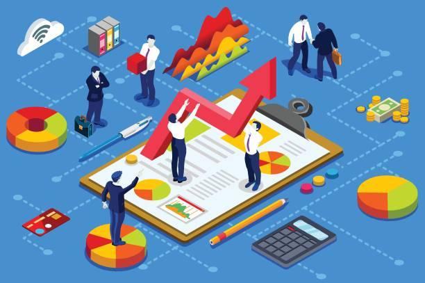 財政の管理の概念 - ファイナンシャルアドバイザー点のイラスト素材/クリップアート素材/マンガ素材/アイコン素材