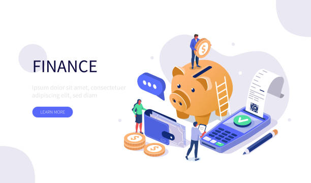 Finanzverwaltung – Vektorgrafik