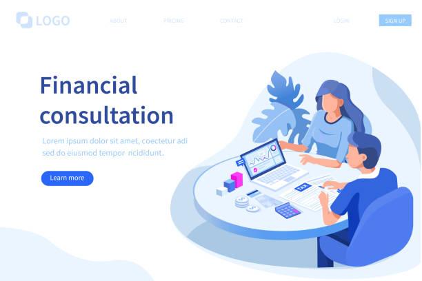 財務顧問 - 插圖 幅插畫檔、美工圖案、卡通及圖標