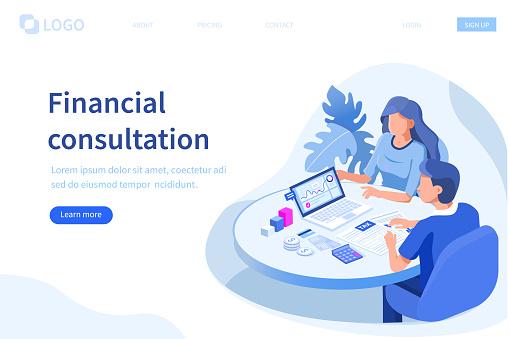 Financial Advisor Stock Illustration - Download Image Now