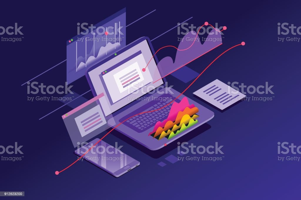 Financial Analysis Minimal Wallpaper royalty-free financial analysis minimal wallpaper stock illustration - download image now